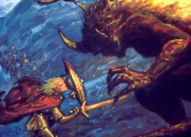 Glorfindel and the Balrog Above Gondolin