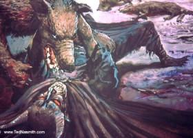 Huan Subdues Sauron