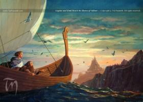 Legolas and Gimli Reach the Shores of Valinor