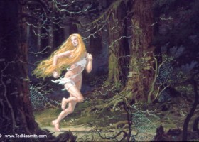 Nienor Flees Into the Woods (MECCG)