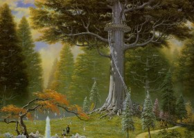 The Great Tree at Caras Galadhon
