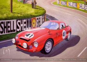 1964 Alfa Romeo TZ1 at Le Mans