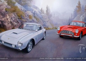 Ferrari 240 GT and Aston Martin DB4