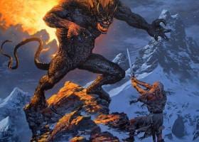 Gandalf and the Balrog Upon Celebdil