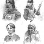 Eddard Stark, Jon Snow, Bran Stark, Tyrion Lannister