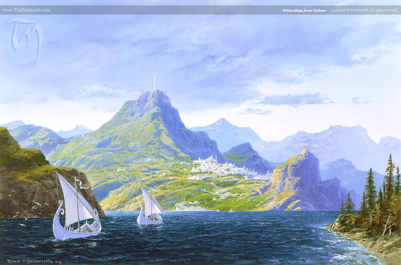 Image result for tolkien white ships