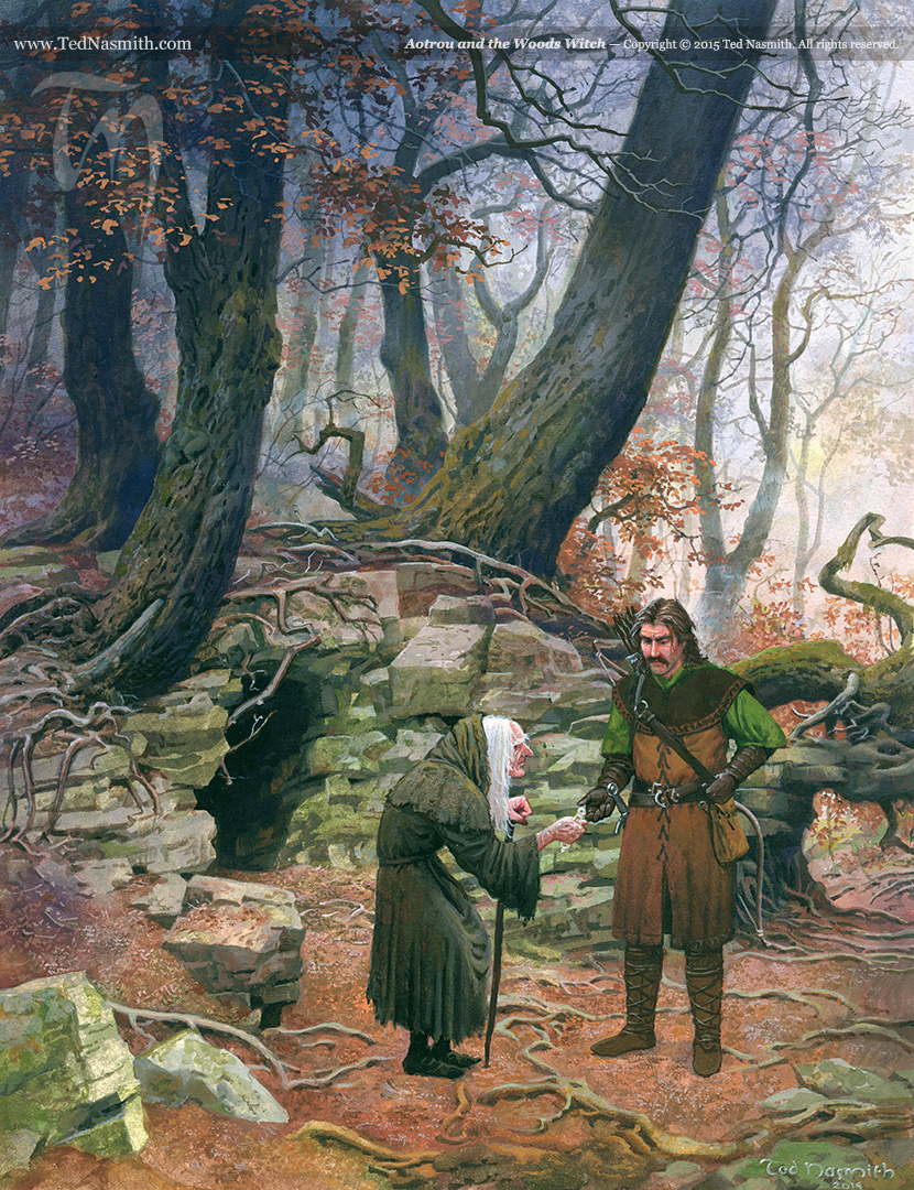 Autrou And The Woods Witch Ted Nasmith