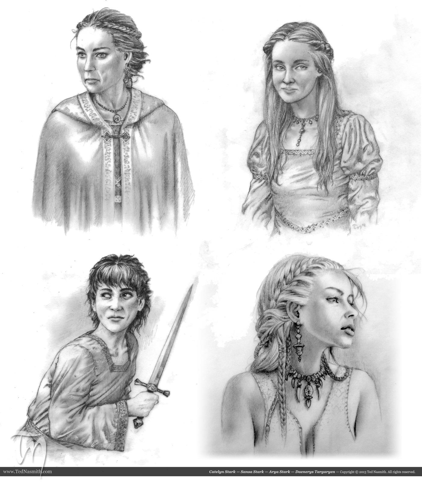 catelyn sansa arya daenerys � ted nasmith