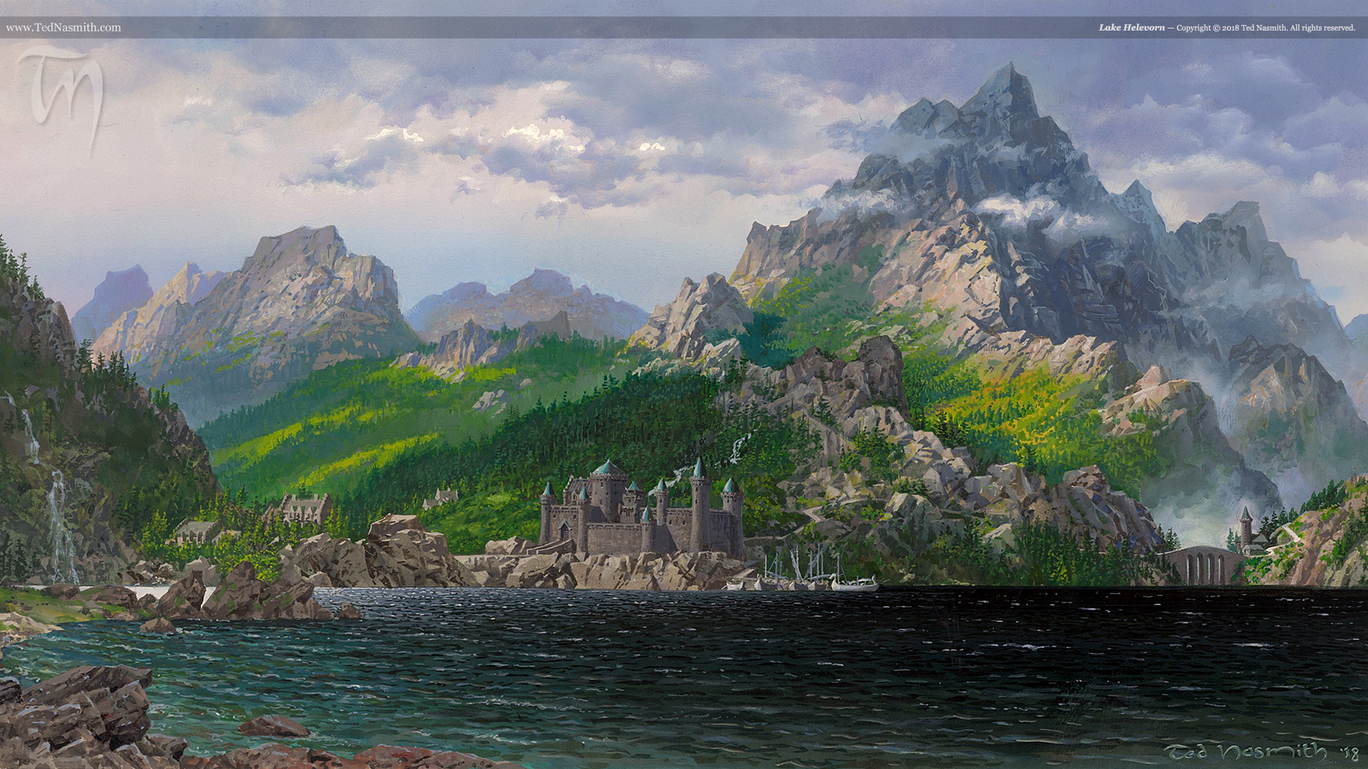 Lake Helevorn – Ted Nasmith